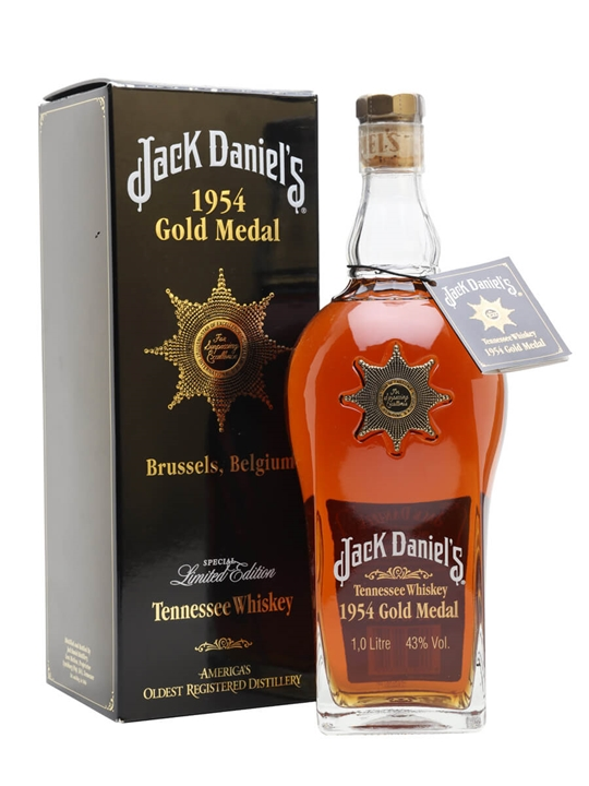 Jack Daniels 1954 Gold Medal  Litre Tennessee Whiskey