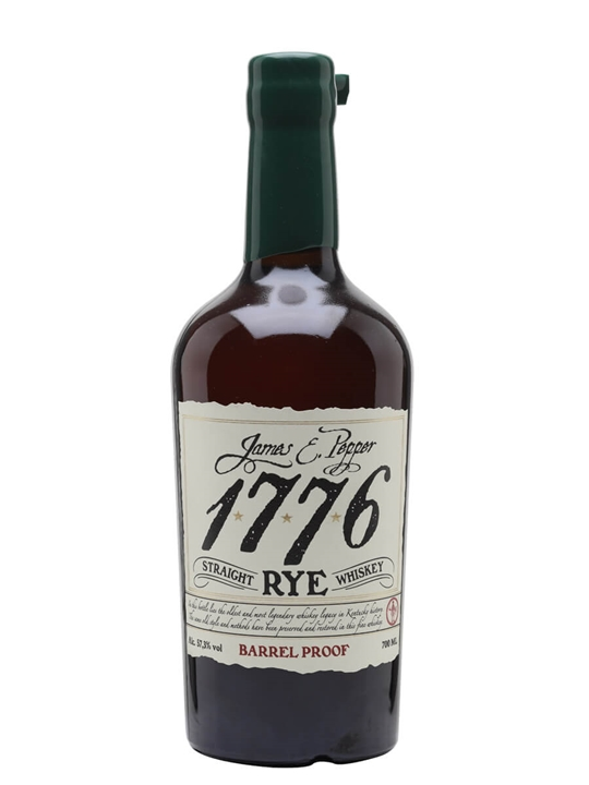 James E Pepper 1776 Barrel Proof Rye Straight Rye Whiskey