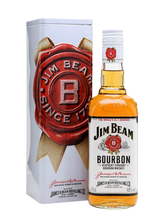 Jim Beam White Label / Gift Box Kentucky Straight Bourbon Whiskey