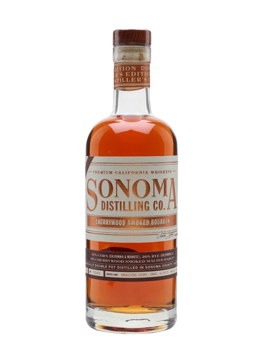 Sonoma Distilling Co Cherrywood Bourbon California Bourbon Whiskey