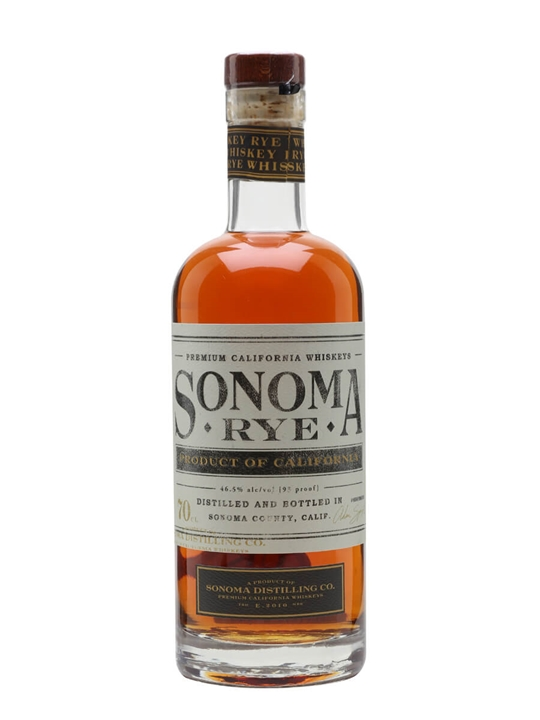 Sonoma Distilling Co Rye California Rye Whiskey