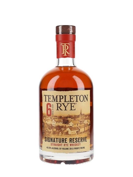 Templeton Rye Signature Reserve / 6 Year Old Rye Whiskey