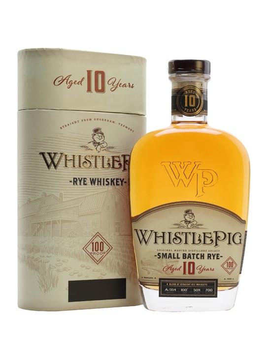 WhistlePig 10 Year Old Rye Whiskey Straight Rye Whiskey