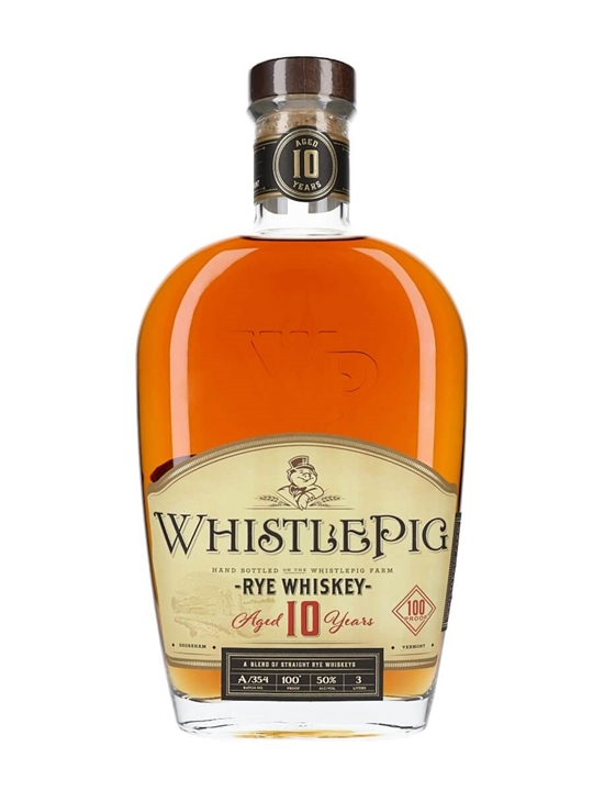 WhistlePig 10 Year Old Rye Whiskey / Jeroboam Straight Rye Whiskey
