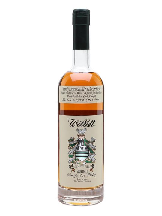Willett's 3 Year Old Family Reserve Rye (53.7%) Kentucky Rye Whiskey