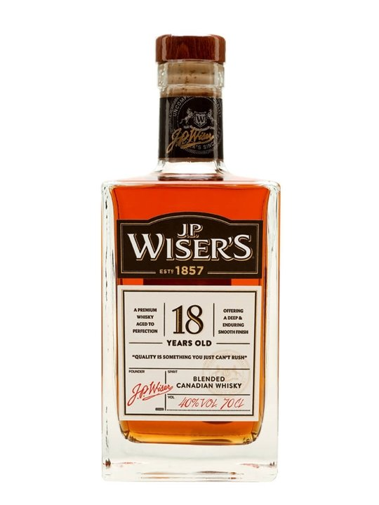 Jp Wiser's 18 Year Old Blended Canadian Whisky