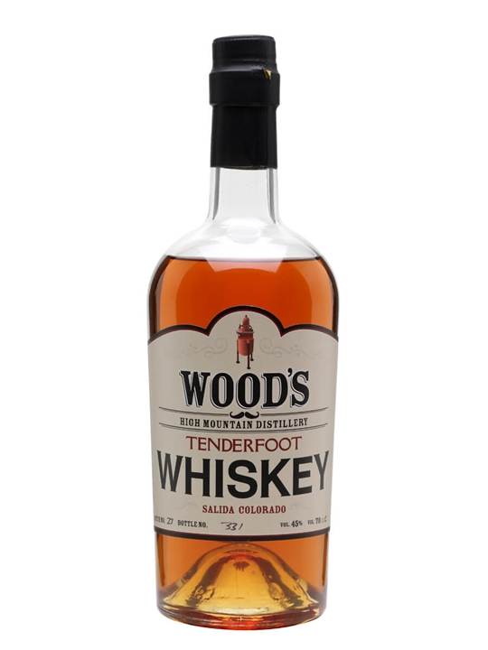 Wood's High Mountain Tenderfoot Whiskey Amercian Single Malt Whiskey
