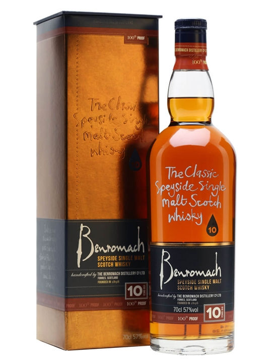 Benromach 10 Year Old / 100 Proof Speyside Single Malt Scotch Whisky