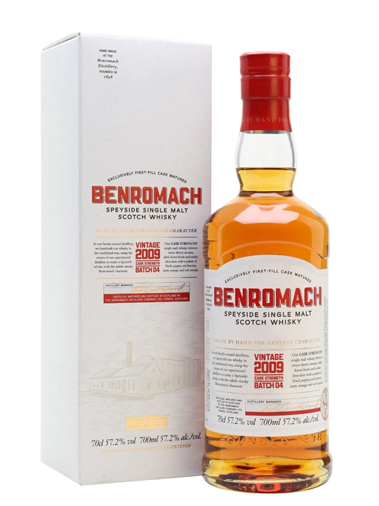 Benromach Cask Strength Vintage 2009 / Batch 4 Speyside Whisky