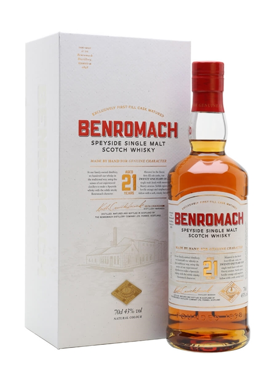 Benromach 21 Year Old Speyside Single Malt Scotch Whisky