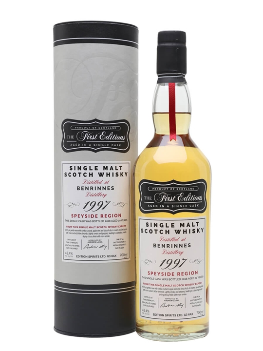 Benrinnes 1997 / 20 Year Old / First Editions Speyside Whisky