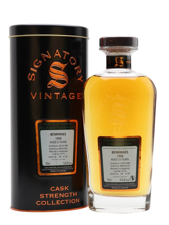 Benrinnes 1996 / 23 Year Old / Signatory Speyside Whisky
