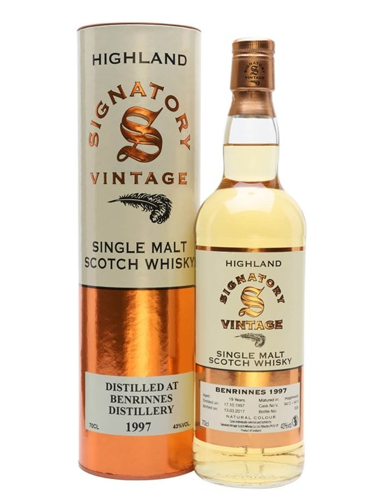 Benrinnes 1997 / 19 Year Old / 43% / 70cl / Signatory Speyside Whisky