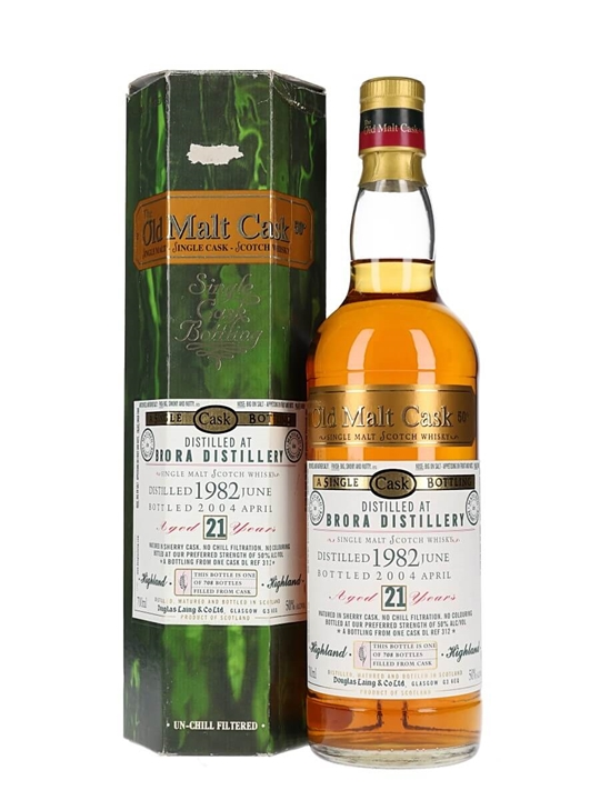 Brora 1982 / 21 Year Old / Old Malt Cask Highland Whisky