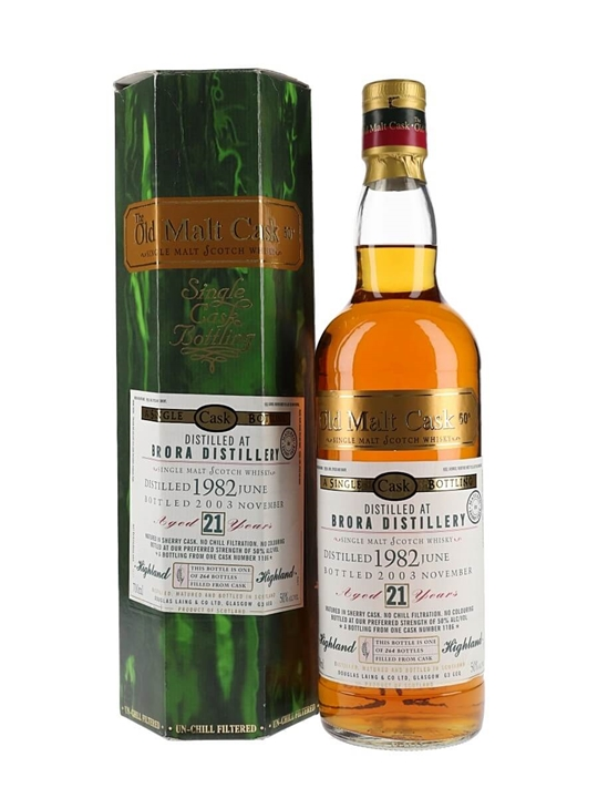 Brora 1982 / 21 Year Old / Sherry Cask #1186 / Old Malt Cask Highland Whisky