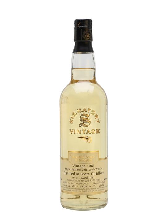 Brora 1981 / 20 Year Old / Signatory Highland Whisky