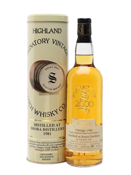 Brora 1981 / 19 Year Old / Millennium Edition / Signatory Highland Whisky
