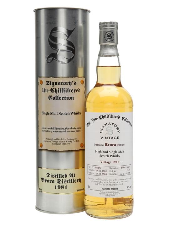 Brora 1981 / 22 Year Old / Signatory Highland Whisky