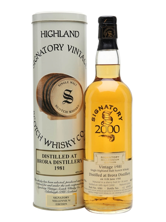 Brora 1981 / 18 Year Old / Millennium / Signatory Highland Whisky
