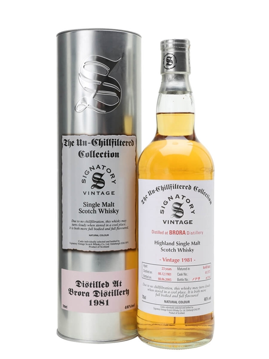 Brora 1981 / 23 Year Old / Signatory Highland Whisky