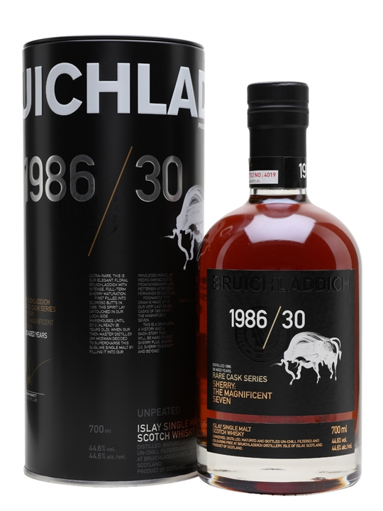 Bruichladdich 1986 / The Magnificent 7 / 30 Year Old / Rare Cask Series Islay Whisky