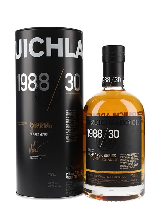 Bruichladdich 1988 / The Untouchable / 30 Year Old / Rare Cask Series Islay Whisky