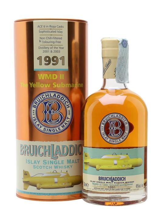 Bruichladdich 1991 / 14 Year Old / WMDII - Yellow Submarine Islay Whisky