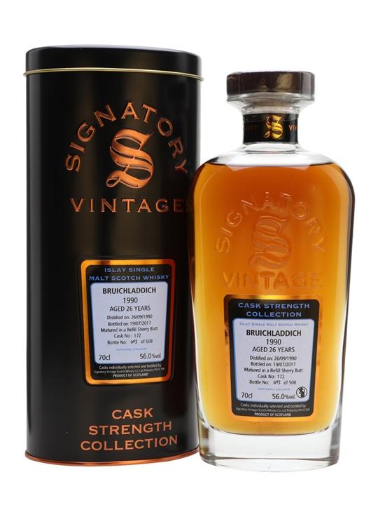 Bruichladdich 1990 / 26 Year Old / Signatory Islay Whisky