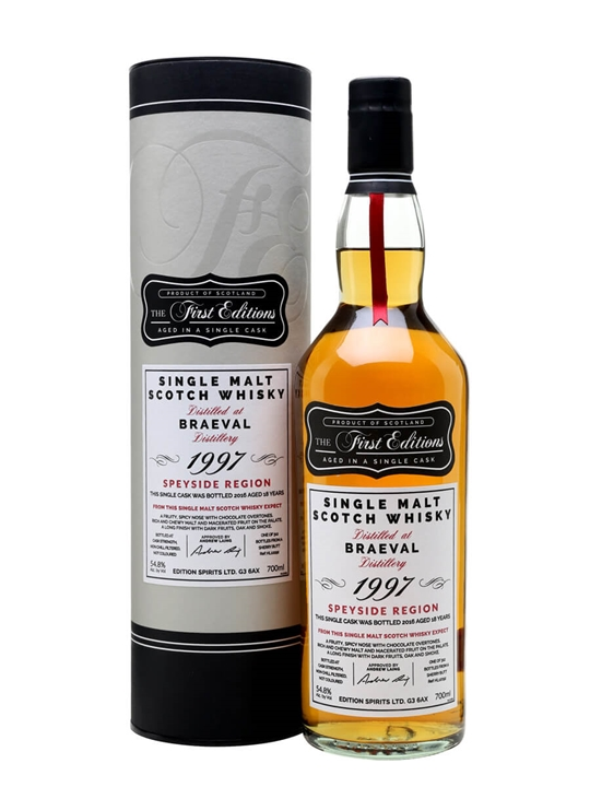 Braeval 1997 / 18 Year Old /  First Editions Speyside Whisky