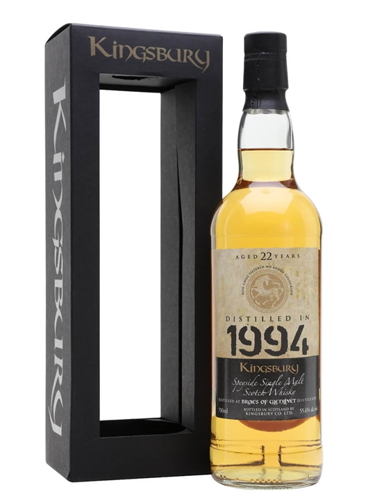 Braes Of Glenlivet 1994 / 22 Year Old / Kingsbury Speyside Whisky