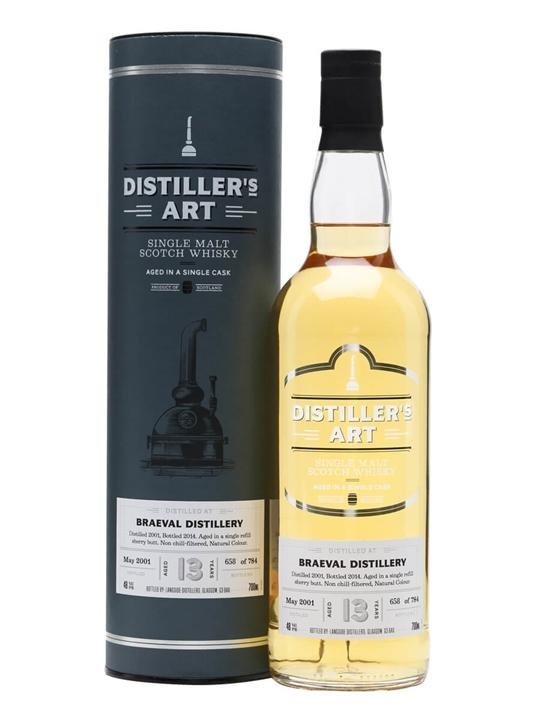 Braeval 2001 / 13 Year Old / Bot.2014 / Distiller's Art Speyside Whisky