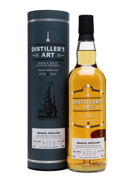 Braeval 2002 / 13 Year Old Sherry Butt / Distiller's Art Speyside Whisky