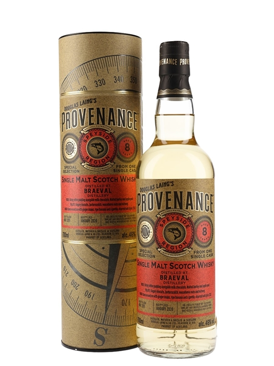 Braeval 2011 / 8 Year Old / Provenance Speyside Whisky