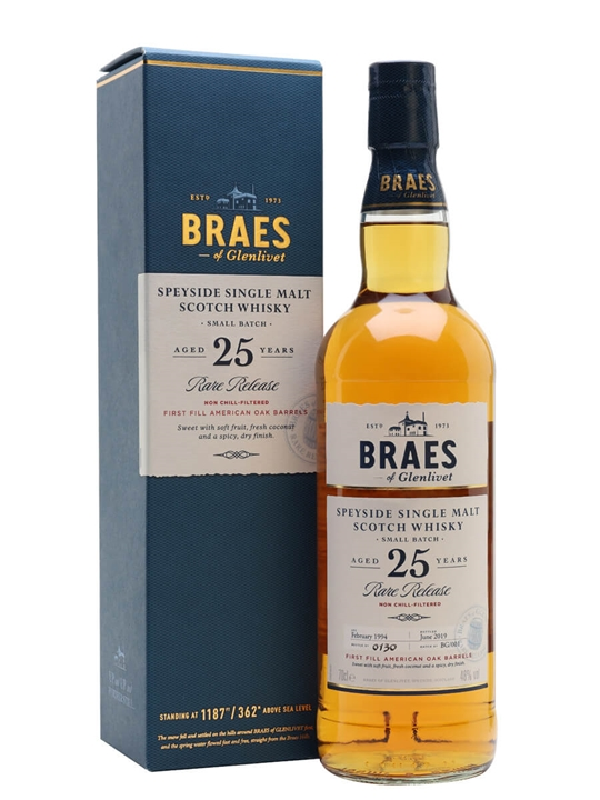Braes Of Glenlivet 25 Year Old / Secret Speyside Speyside Whisky