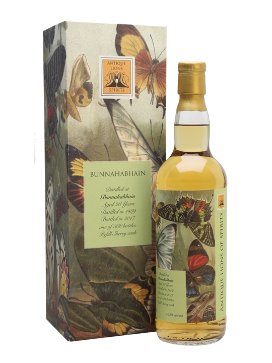 Bunnahabhain 1989 / 28 Year Old / Antique Lions of Spirits Islay Whisky