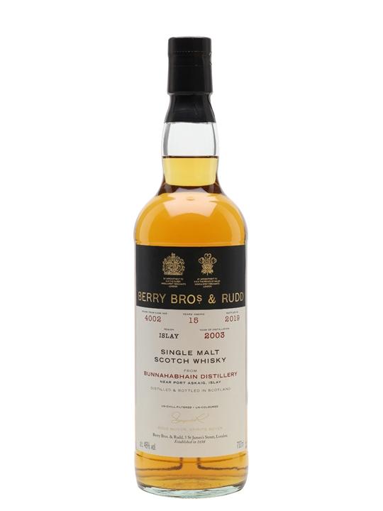Bunnahabhain 2003 / 15 Year Old / Berry Bros & Rudd Islay Whisky