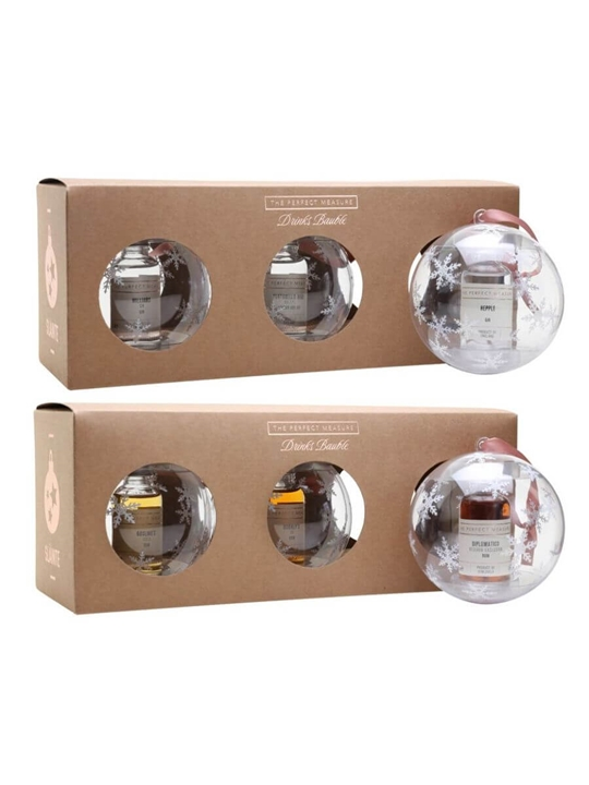 Gin and Whisky Baubles Duo / 3 Gin and 3 Whisky