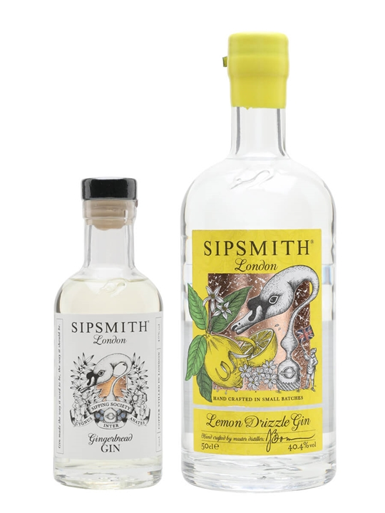 Sipsmith Lemon Drizzle and Gingerbread Gin Duo