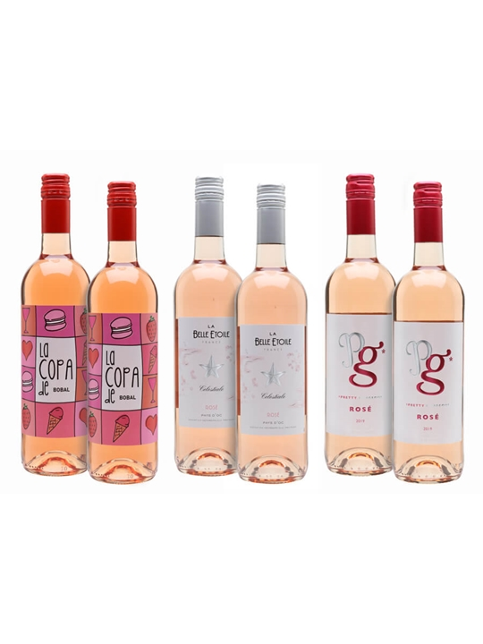Pretty In Pink Wine Case / 6 Bottles