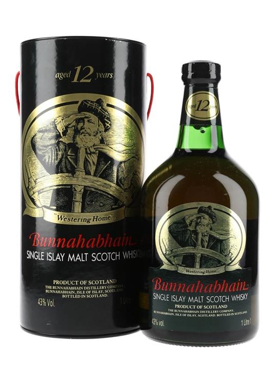 Bunnahabhain 12 Year Old / Bot.1990s / Litre Islay Whisky