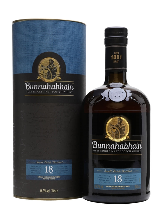 Bunnahabhain 18 Year Old Islay Single Malt Scotch Whisky