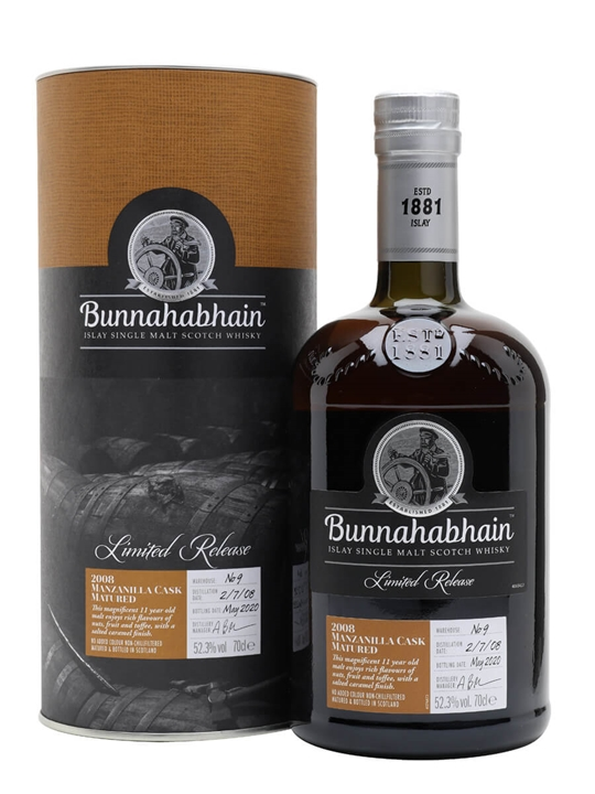 Bunnahabhain 2008 / 11 Year Old / Manzanilla Cask Islay Whisky