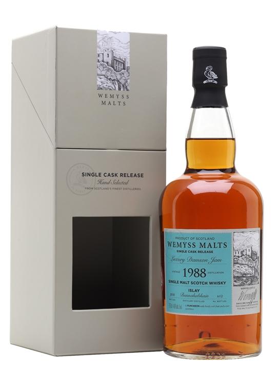 Bunnahabhain 1988 / Luxury Damson Jam / Wemyss Islay Whisky