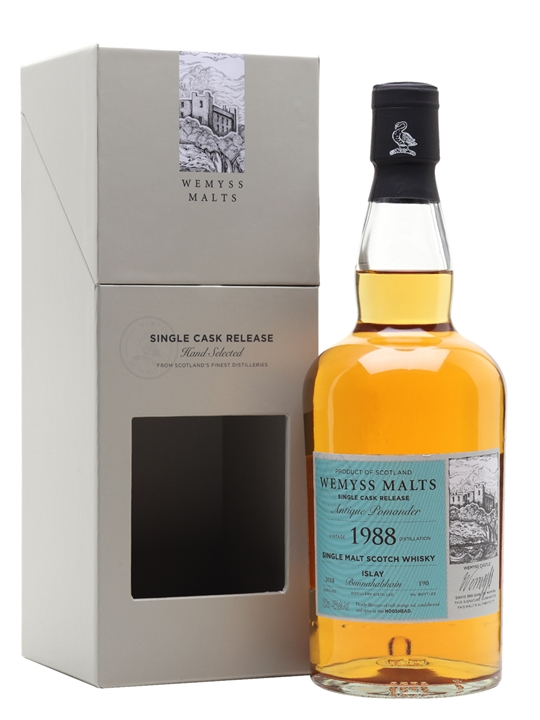 Bunnahabhain 1988 / Antique Pomander / Wemyss Islay Whisky