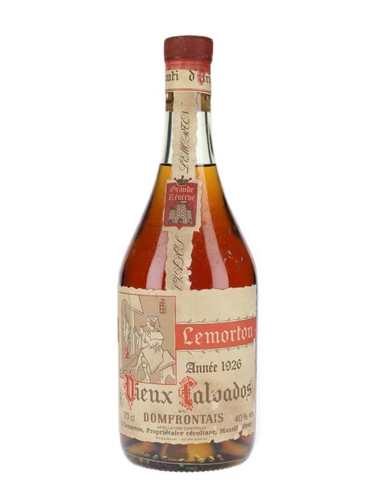Louis Lemorton 1926 Grande Reserve Calvados