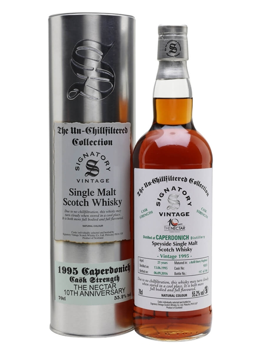 Caperdonich 1995 / 21 Year Old / The Nectar / Signatory Speyside Whisky