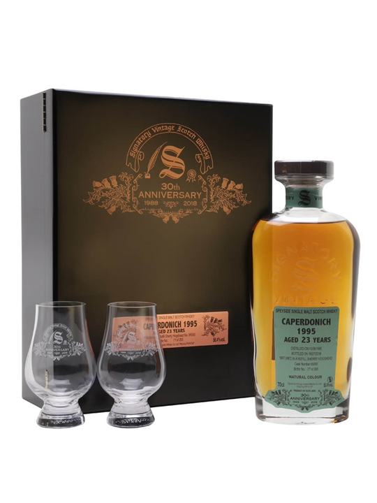 Caperdonich 1995 / 23 Year Old / Signatory 30th Anniversary Speyside Whisky
