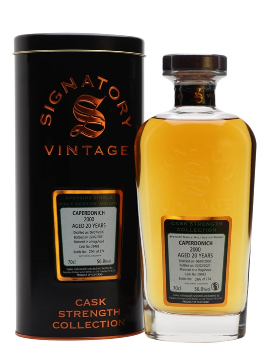 Caperdonich 2000 / 20 Year Old / Signatory Speyside Whisky