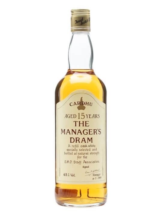 Cardhu 15 Year Old / Managers Dram Speyside Single Malt Scotch Whisky