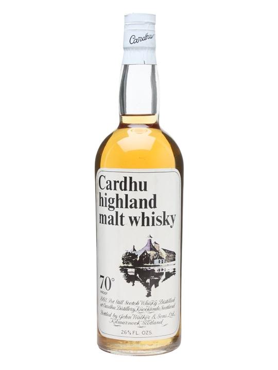 Cardhu Highland Malt Whisky  Bot.1970s Speyside Whisky